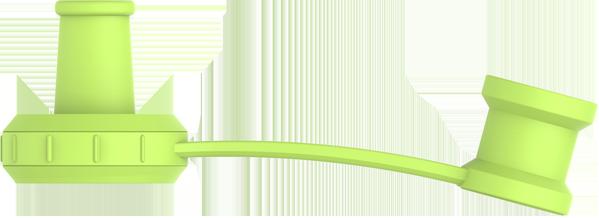 Vihreä vauvan smoothiepussin imukorkki