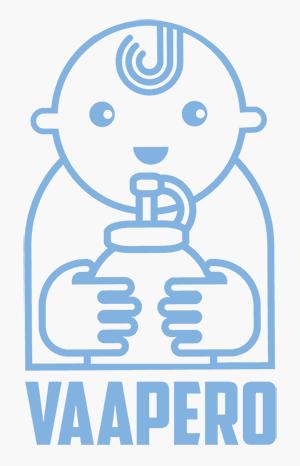 Vaapero välipalapussien imukorkit logo